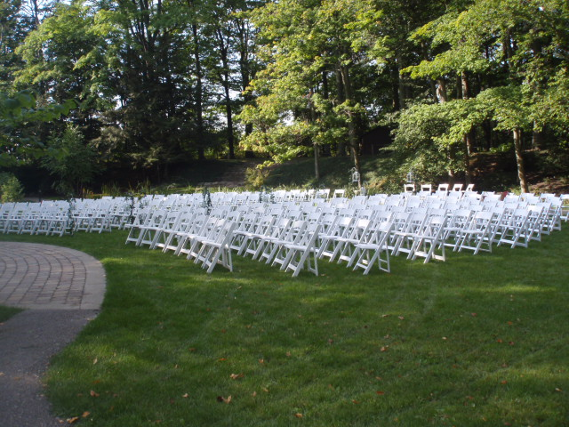 Kas\'s White Wedding Chairs